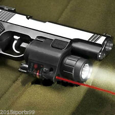 Tactical Combo Cree Flashlight/Lights Torch Red Laser Sight Fit Pistol/Glock #2