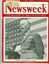 NEWSWEEK   Marshall  victory  October 15 1945