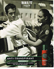 PUBLICITE ADVERTISING  2000   FABERGE   BRUT   anti- transpirant