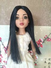 LAST Tonner Ellowyne Wilde Imagination~ All Natural Lizette Honey Long Black Wig