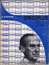 Walter GROPIUS Work and Teamwork Siegfried Giedion Bauhaus Architecture Design