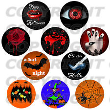 80 Images digitales cabochons HALLOWEEN rouge vampire rond 30 25 20 18 14 12 mm