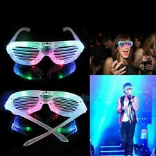 Colorful Flashing LED Light Up Glasses Xmas Party Club Shutter Sunglasses Supply