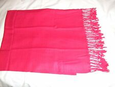 New Thai  RED Pashmina/shawl/wrap/scarf 100% Silk & Cashmere
