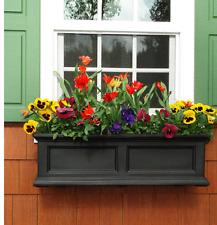 Garden Black Resin Hanging Self Watering Window Box Planter Flower Outdoor New