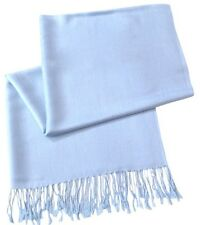Baby Blue Solid Colour Shawl Pashmina Scarf Wrap Stole Throw CJ Apparel **NEW**