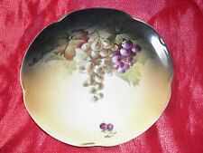 """Jaeger Pottery plate decorated with grapes, Germany, 1900s. """"Louise"""" pattern[144"""