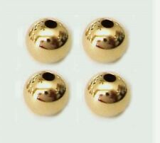 10pcs 7mm  plain round bead 14k Gold Filled shiny Seamless Spacer Findings GS24