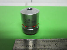 MICROSCOPE PART GERMANY OPTICS OBJECTIVE  HERTEL REUSS 4X BIN#3C-57