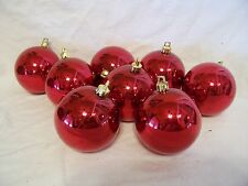 8 DARK RED SHINY SHATTER RESISTENT 2.5 IN CHRISTMAS ORNAMENT DECORATION