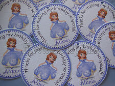 Sofia the first Princess Party Favor Tags Birthday Party NEW 12 per set