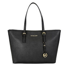 Michael Kors Jet Set Travel Saffiano Leather Tote - Black