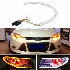 2x 60cm LED Switchback DRL Strip Light Daytime Running Turn Signal Sequential