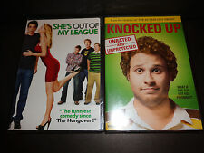 SHE'S OUT OF MY LEAGUE & KNOCKED UP-2 DVDs-Jay Baruchel, Seth Rogen, Jonah Hill