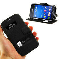 Black Leather Case Cover for SAMSUNG GALAXY TREND LITE GT S7390,S7572,S7570