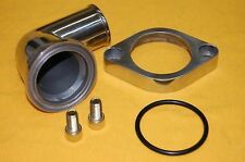 SBC BBC Chevy Polished Aluminum 90 degree Swivel Water Neck Thermostat Housing