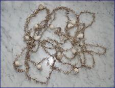 Tinsel - 3 antike Tinselketten mit kleinen Wattezapfen  -  ca. 4,2 m   (# 6226)