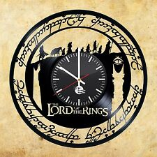 The Lord of the Rings The Hobbit Handmade vinyl record modern unique wall clock