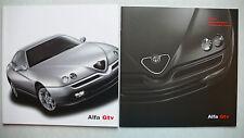 Prospekt Alfa Romeo GTV 2.0 T.Spark 16V/L, V6/24VL, 8.2001, 32S.+Daten/Preisheft