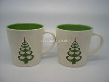STARBUCKS (2) HOLIDAY 2006 CHRISTMAS RAISED TREE & SNOWFLAKE MUG CUP 17 OZ CUTE