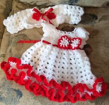 crochet baby dress cardigan set newborn romany