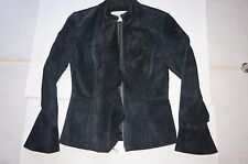 Women's Suede Leather Jacket Size XS Black County Clothing Company