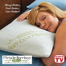Miracle Bamboo Pillow As Seen On TV Original Shredded Memory Foam Queen Size