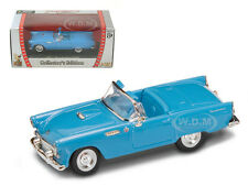 1955 FORD THUNDERBIRD BLUE 1/43 DIECAST MODEL CAR BY ROAD SIGNATURE 94228