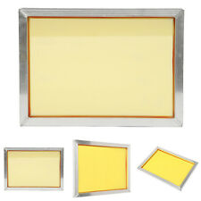 New Aluminum Silk Screen Printing Frame With 120t 300 TPI Yellow Mesh 27cm*39cm