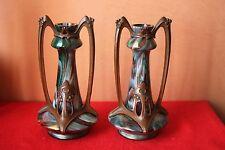 Paire de vases en verre irisé Loetz ? Kralik ? Autriche ?