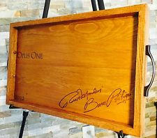 Artisan Wine Tray Handmade White Oak and Opus One original Panel Serving tray.