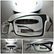 Mens or Women CONTEMPORARY MODERN Style Clear Lens EYE GLASSES Matte Black Frame