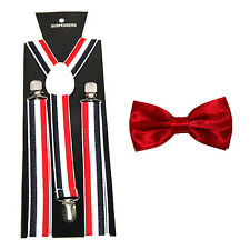 Men's Novelty Suspenders/Braces with Matching Bow Tie - 14 Designs