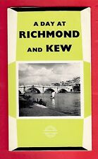 London Transport Bus & Tube Publicity Leaflet - A Day at Richmond & Kew - 1962/3