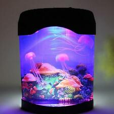 Sea World fish Swimming LED Mood Lamp Nightlight Multi Colored Jellyfish Tank #W