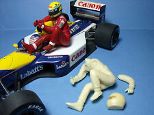 FIGURINE  SENNA   1/18   POUR   WILLIAMS   F1   VROOM   A   PEINDRE  NO   EXOTO