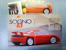 AUTO998-RITAGLIO/CLIPPING/NEWS-1998-FIORAVANTI F 100 - 4 fogli