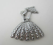 Vintage Charles Horner Southern Belle Brooch Pin Staybrite Silver Tone 1940s