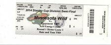 2014 MINNESOTA WILD VS COLORADO AVALANCHE TICKET STUB GAME #3 PLAYOFFS 4/21 TM