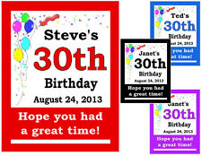30th BIRTHDAY PARTY FAVORS MAGNETS set of 15