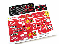 CUSTOM REPLACEMENT STICKERS for Lego 8157 Ferrari F1 with NICE PLAQUE STICKER