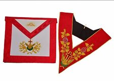 Brand New MASONIC REGALIA 18th DEGREE SET Rose Croix Aprons Hand Embroidered