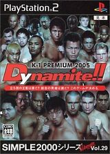 Used PS2 SIMPLE2000 Series Ultimate Vol.29 K-1 PREMIUM 2005 Dynamite !! Japan