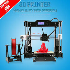 Anet A8 FDM 3D Printer Precision Reprap Prusa i3 DIY & LCD USA FREE SHIP AP