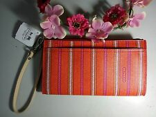 NWT Coach Legacy Stripe Wristlet - fits iPhone 6+