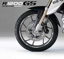 R1200GS BMW Motorrad Felgen Rand aufkleber set rim stickers r1200 GS Weiß stripe