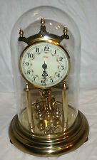 400 Day Clock- All Brass W/Porcelain Face- Made In Germany - Kundo