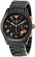 Emporio Armani AR 1410 Ceramica Dial Chronograph Men's Wrist Watch +Original Box