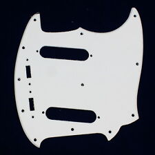 Single Ply Guitar Pickguard Fits Mustang Classic Series style ,White