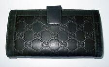 AUTH VINTAGE GUCCI GG LOGO EMBOSSED LEATHER LARGE BI-FOLD WALLET/VERY RARE- WOW